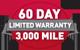60 Day Limited Warranty